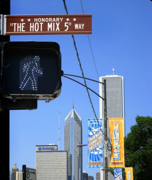 Hot Mix 5 Honorary Street Sign Chicago DJ